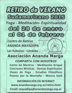 Mantras - Meditación grupal - Música sutil - Excelente alimentación lacto vegetariana.